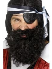 Pirate Black Bushy Beard